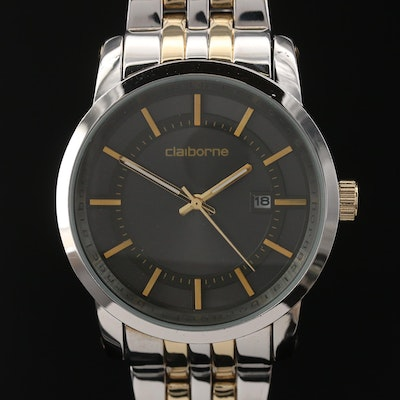 Clairborne Two Tone Quartz Wristwatch