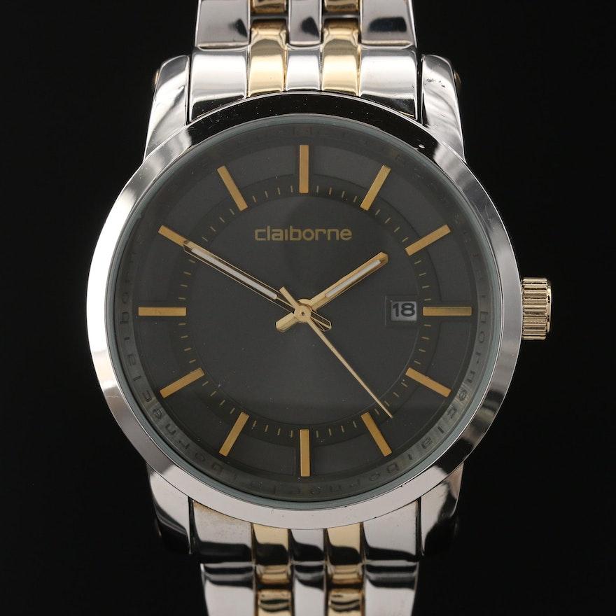 Clairborne Two Tone Quartz Wristwatch