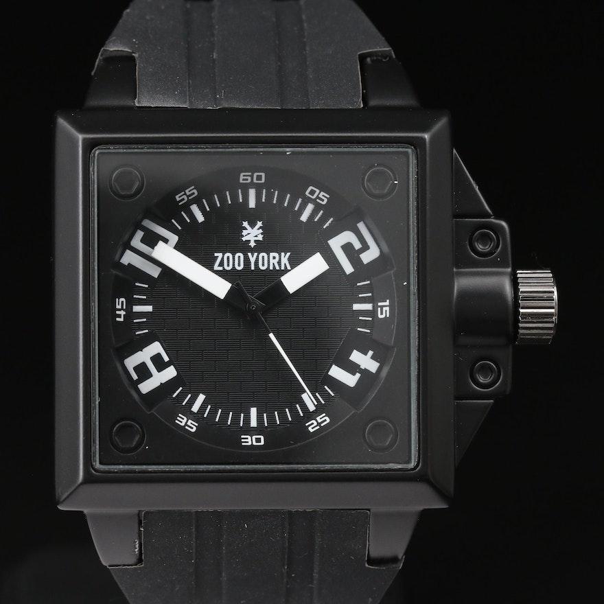 Zoo York Black & White Quartz Wristwatch