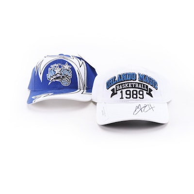 Grant Hill NBA Hall of Fame Star Signed Orlando Magic Basketball Caps
