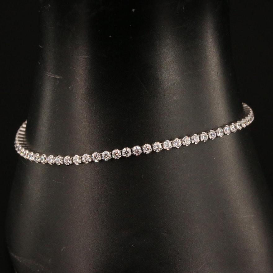 Milor Sterling Silver Cubic Zirconia Link Bracelet
