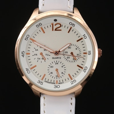 Rose Gold Tone Quartz Wristwatch