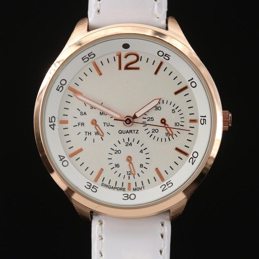 Rose Gold Tone Quartz Wristwatch