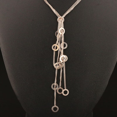 Sterling Lariat Style Necklace