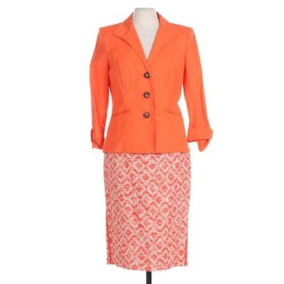 Lafayette 148 New York Blazer and Skirt