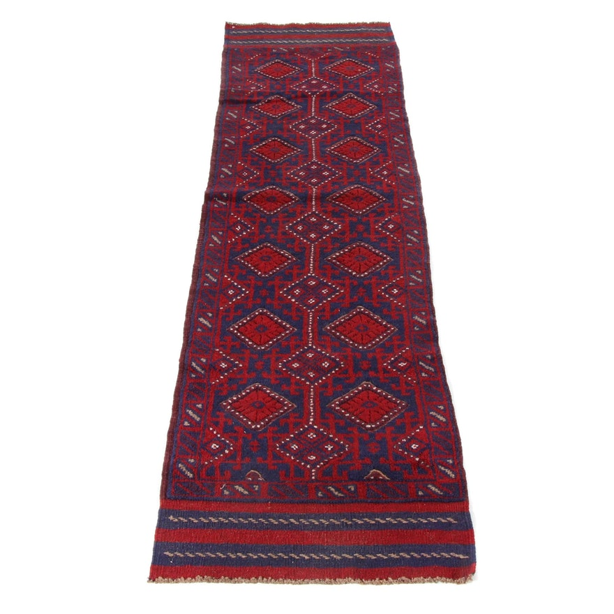 2'1 x 8'4 Handwoven and Knotted Afghani Turkoman Runner, Circa 2000
