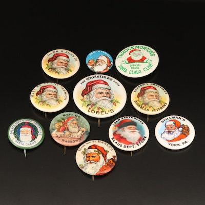 Vintage Retail Store Santa Claus Buttons