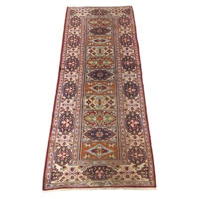 2'2 x 6'7 Hand-Knotted Pakastani Persian Tabriz Runner, Signed, 1990s