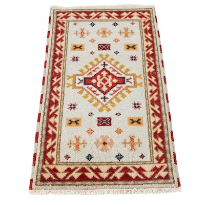 2'2 x 4'1 Hand-Knotted Indo Caucasian Kazak Rug, 2010s