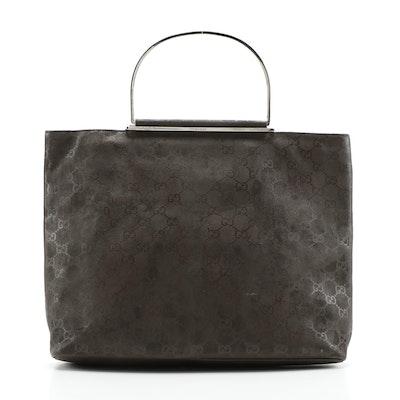 Modified Gucci GG Brown Leather Tote Bag