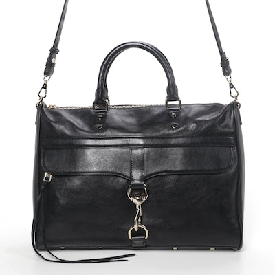Rebecca Minkoff M.A.C. Crossbody in Black Leather