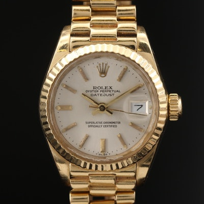 1980 Rolex Datejust President 18K Gold Automatic Wristwatch