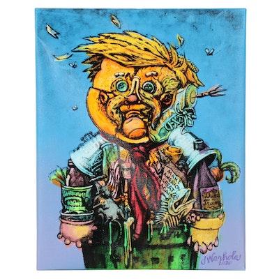 "Jamie Warhola Acrylic Painting ""Trashman I,"" 2020"