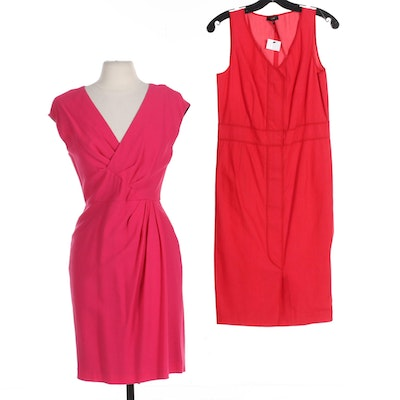 Lafayette 148 New York Dresses in Red and Rose Pink