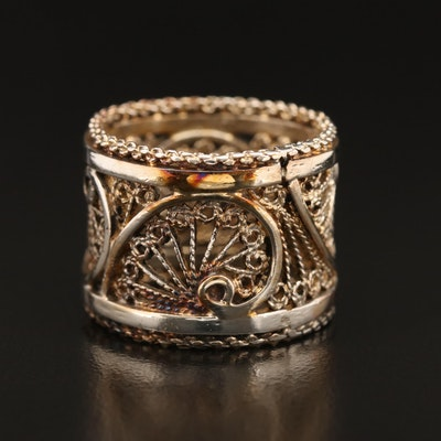 Sterling Filigree Band