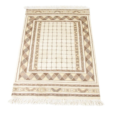 2'7 x 4'4 Hand-Knotted Pakastani Moroccan Rug, 2010s
