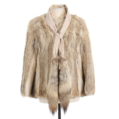 Anne Klein Crystal Coyote Jacket with Coyote Tail Tie for Halle's