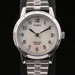 Timex White Mother of Pearl Dial Quartz Wristwatch