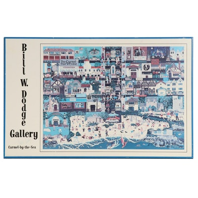 "Bill W. Dodge Offset Lithograph Poster ""Carmel-by-the-Sea,"" circa 1986"