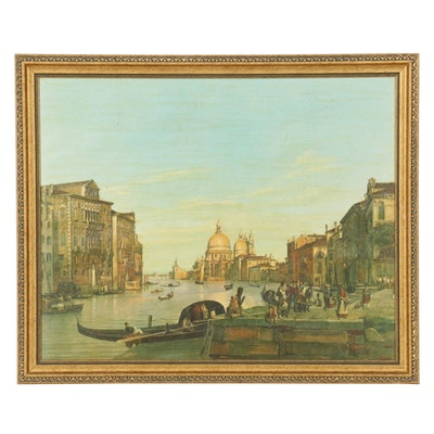 Offset Lithograph of Venetian Canal Grande