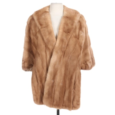 Pastel Mink Fur Stole for The Union