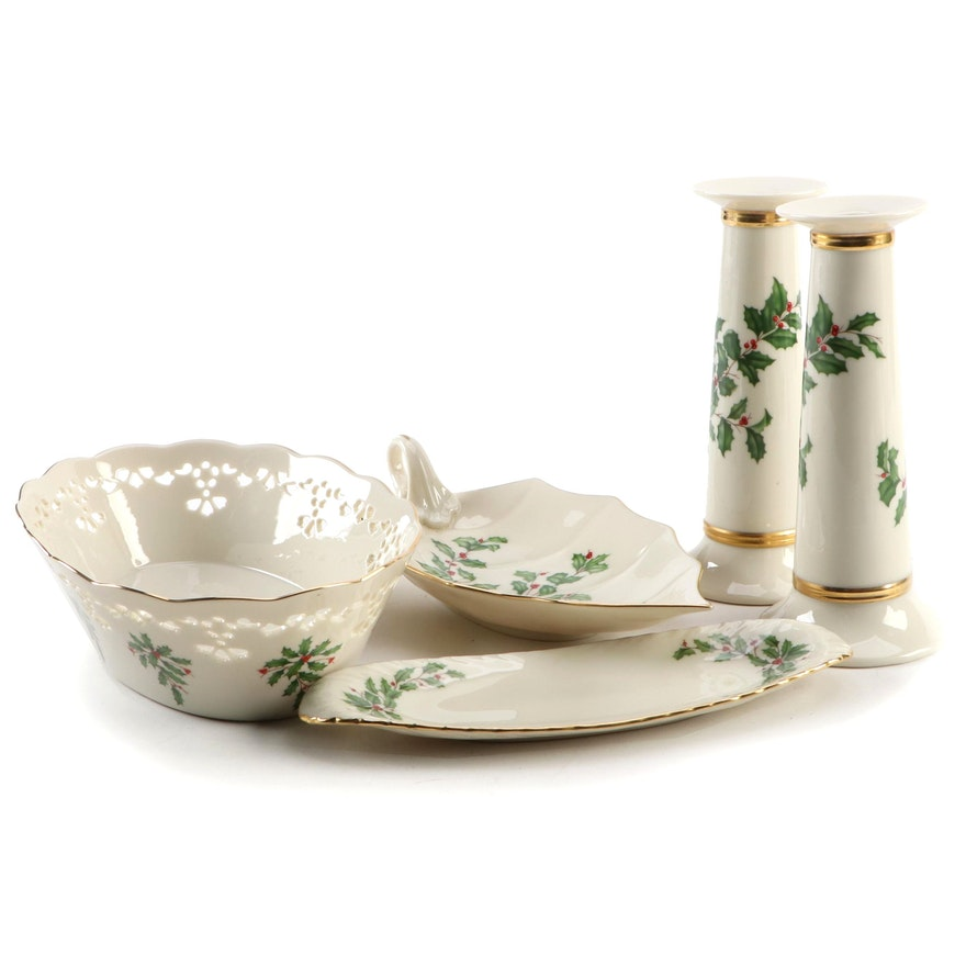 "Lenox ""Holiday"" Porcelain Serveware and Table Accessories"