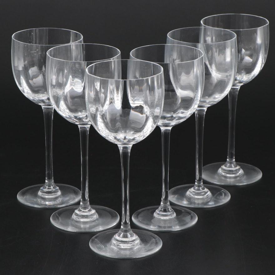 "Baccarat ""Montaigne Optic"" Crystal Rhine Wine Glasses"