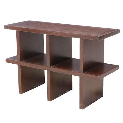 "Pottery Barn ""Lucas"" Modernist Style Oak Bookcase"