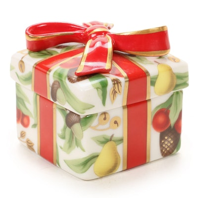 """Tiffany & Co. """"Tiffany Holiday"""" Porcelain Box"""