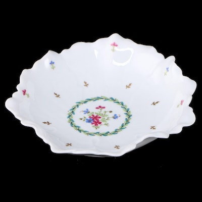 Haviland Floral Porcelain Ruffled Edge Centerpiece Bowl