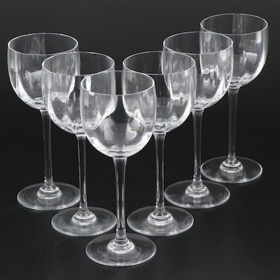 "Baccarat ""Montaigne Optic"" Crystal Wine Glasses"
