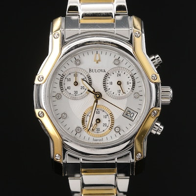 Bulova Wintermoor Chronograph Two-Tone Diamond Quartz Wristwatch