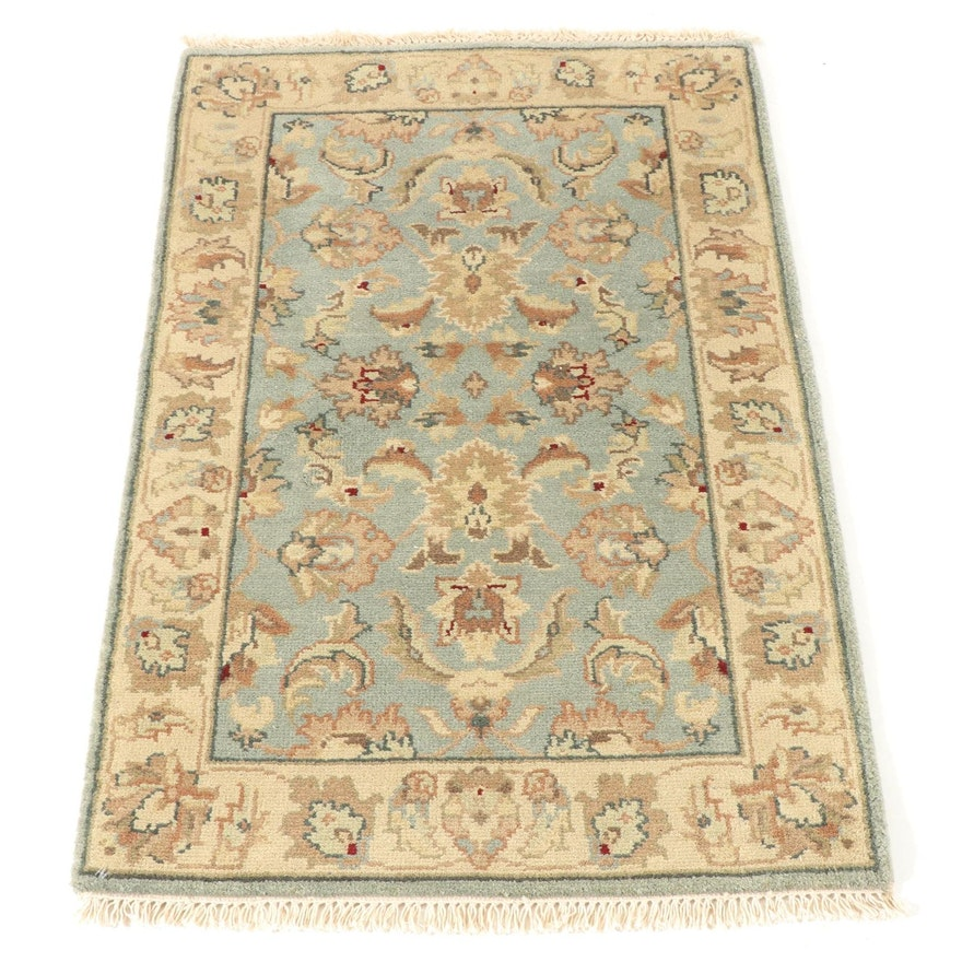 2'7 x 4'4 Hand-Knotted Indo Turkish Oushak Rug, circa 2000