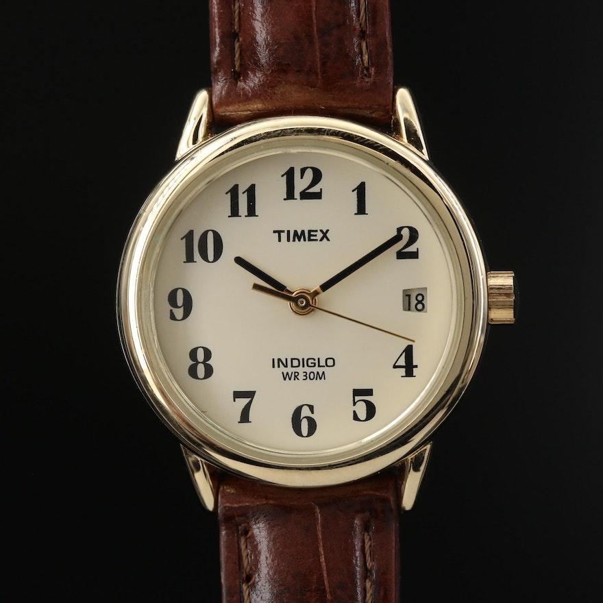 Timex Indiglo Gold Tone Quartz Wristwatch