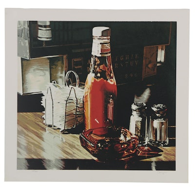 "Ralph Goings Serigraph ""Still Life with Sugars,"" Late 20th Century"