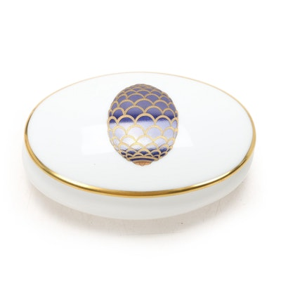 "Fabergé ""The Pine Cone Egg"" Porcelain Limoges Box"