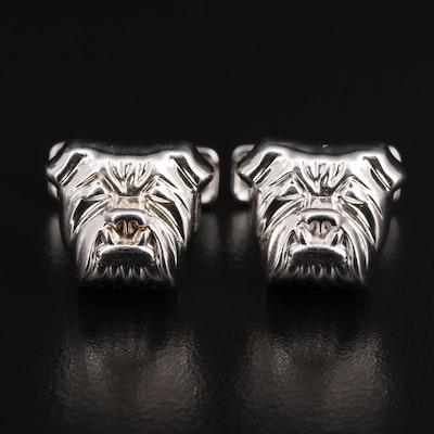Sterling Silver Ravi Ratan Bulldog Cufflinks