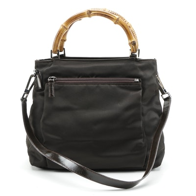 Gucci Bamboo Nylon Two-Way Bag