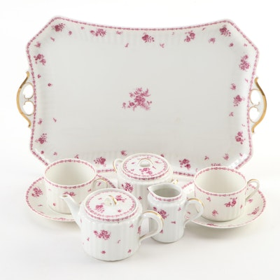 Theodore Haviland Limoges Hand-Painted  Porcelain Tea for Two, Antique