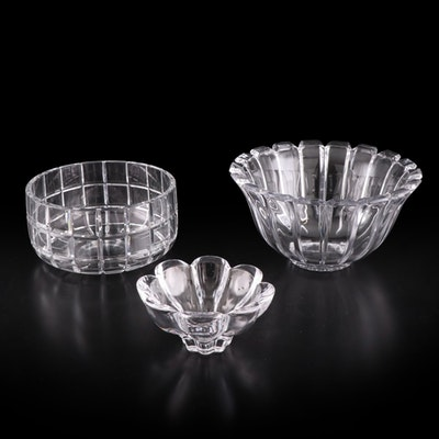 Pressed and Cut Glass and Crystal Serving Bowls and Candy Dish