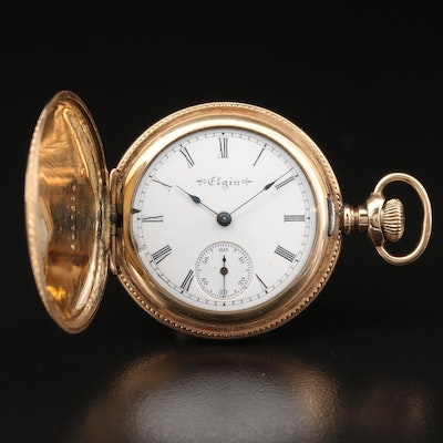1901 Elgin Gold Filled Hunting Case Pocket Watch
