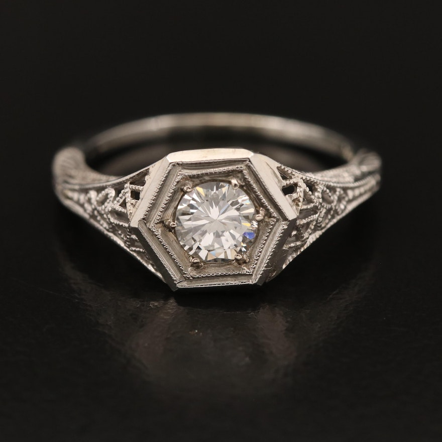 1930s 18K Diamond Ring