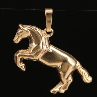 14K Horse Pendant