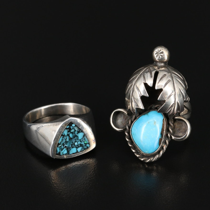 Southwestern Sterling Turquoise Rings