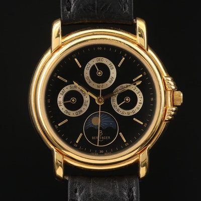Berenger Triple Date Moon Phase Quartz Wristwatch