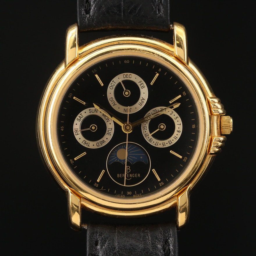 Berenger Triple Date Moon Phase Quartz Wristwatch