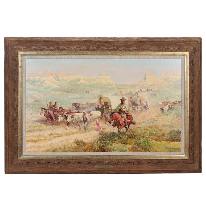 "John F. Clymer Oil Painting ""The Oregon Trail,"" 1967"
