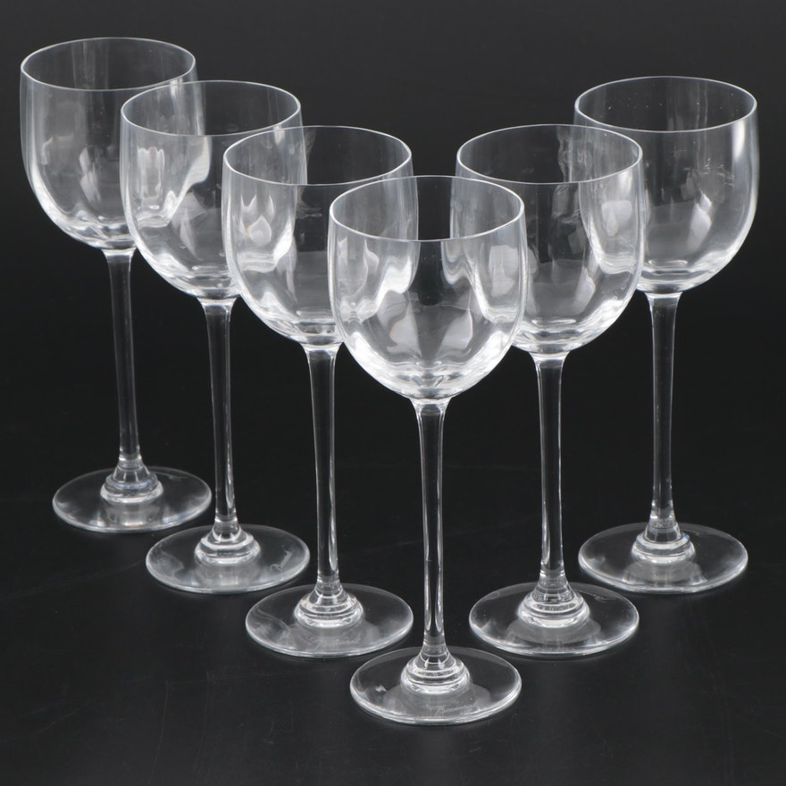 """Baccarat """"Montaigne Optic"""" Crystal White Wine Glasses"""