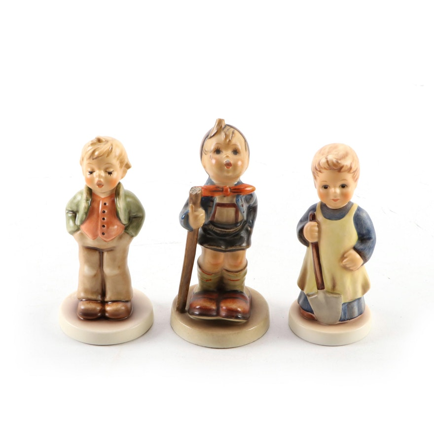 "Goebel M.I. Hummel Hand-Painted Porcelain Figurines, ""Garden Treasures"""