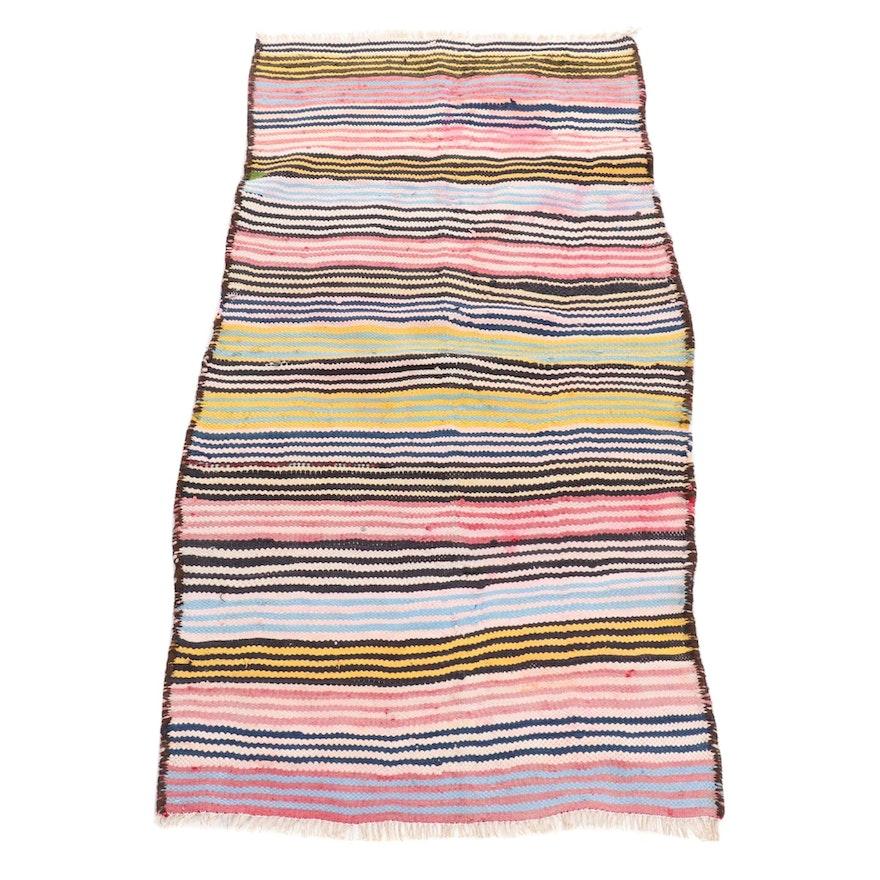 3'8 x 6'10 Handwoven Persian Kilim Wool Rug